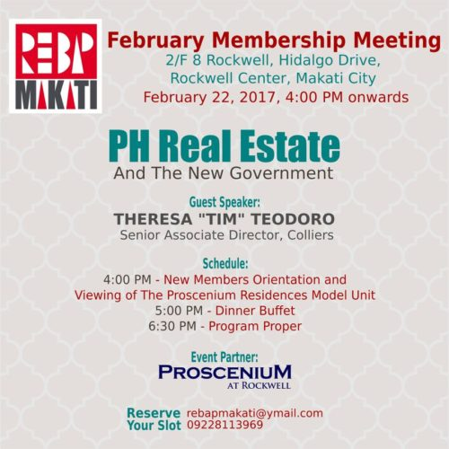 February 2017 REBAP Makati Member brokers meeting